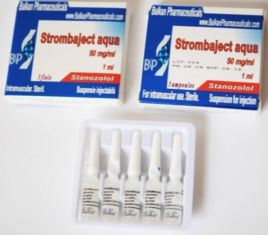 Strombaject Aqua Stanozol Balkan Pharmaceuticals for BodyBuilding