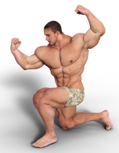 Muscles built by steroids